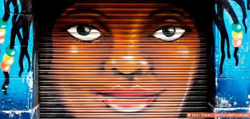 Barcelona Street Art, Shutter Art and Garage Door Graffiti