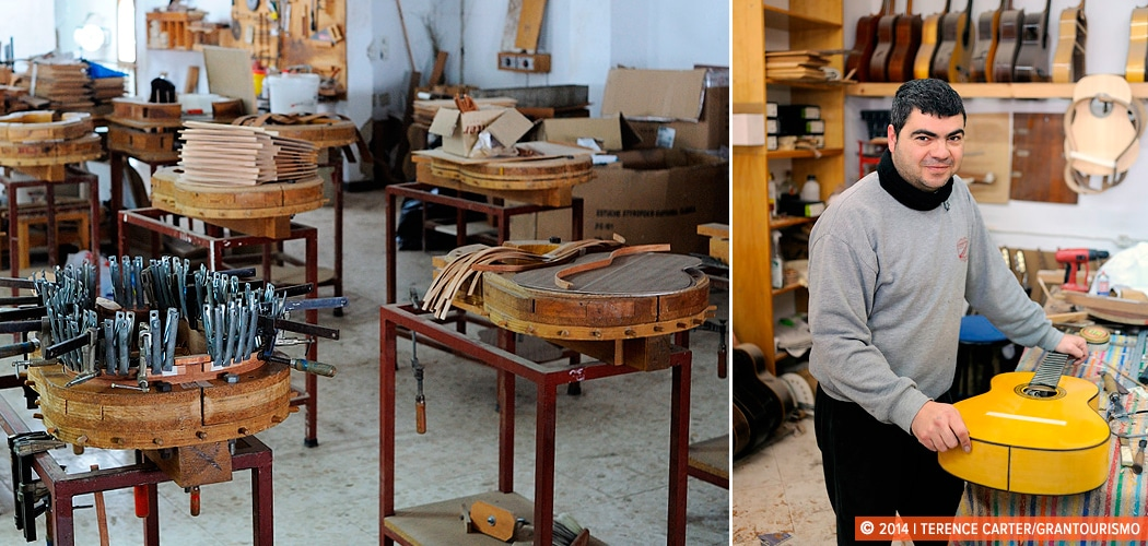 luthier Valeriano Bernal, maker of Guitarras de Artesania, Algodonales, Spain. Copyright 2014 Terence Carter / Grantourismo. All Rights Reserved.