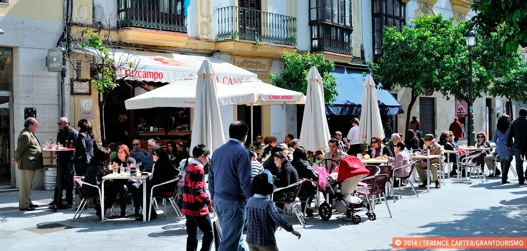 Jerez cafe scene, Spain.
