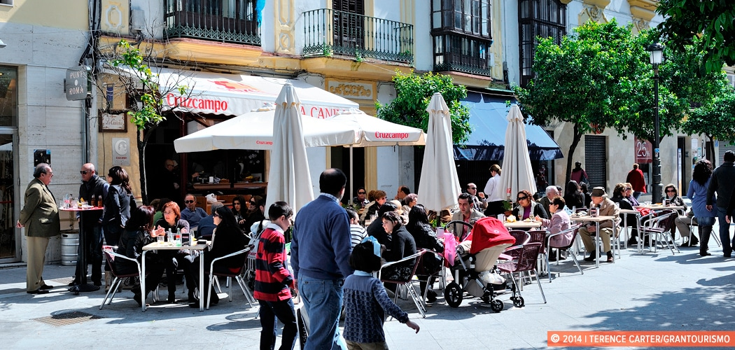 Jerez cafe scene, Spain. Copyright 2014 Terence Carter / Grantourismo. All Rights Reserved.