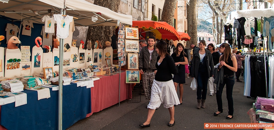 Céret's Saturday Markets, France. Copyright 2014 Terence Carter / Grantourismo. All Rights Reserved.