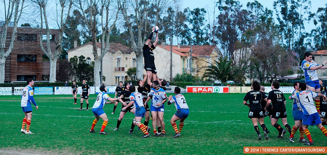 Sunday Rugby in Céret, France. Copyright 2014 Terence Carter / Grantourismo. All Rights Reserved.
