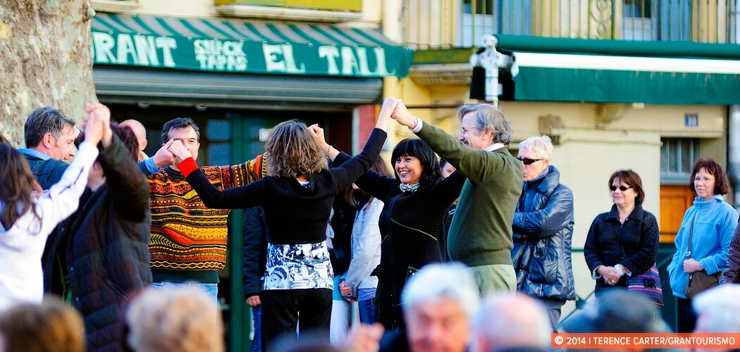 Dancing the Sardana in Céret, France.