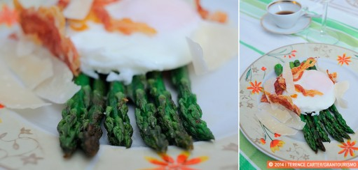 Poached Eggs, Asparagus, Pancetta and Parmesan Recipe