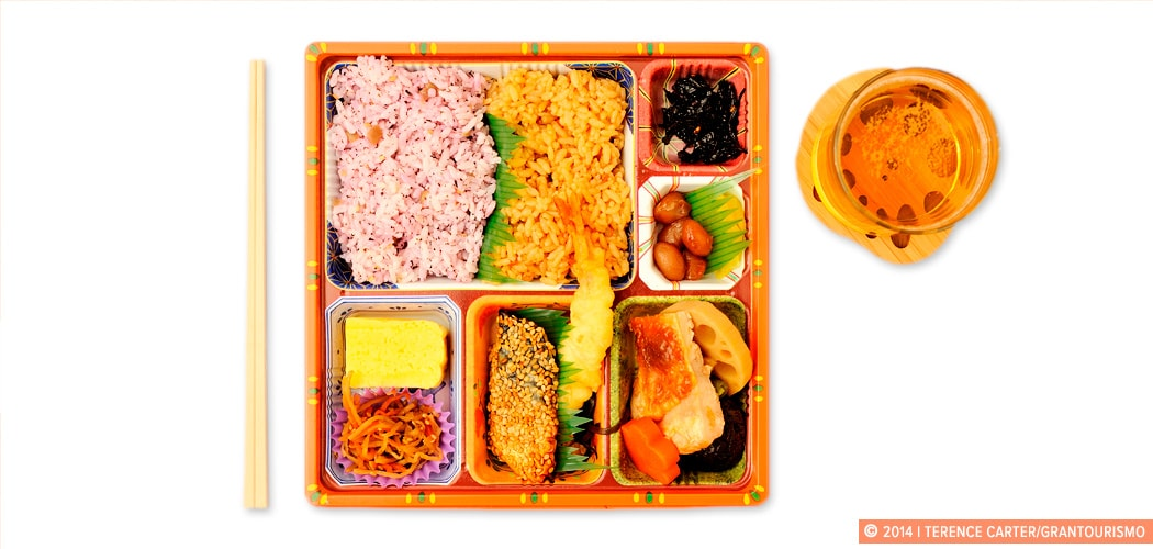 Tokyo Lunch Tray, Tokyo, Japan. Copyright 2014 Terence Carter / Grantourismo. All Rights Reserved.