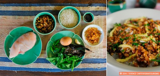 Bubur Ayam Recipe (Indonesian Congee with Chicken), Bali, Indonesia. Copyright 2014 Terence Carter / Grantourismo. All Rights Reserved.