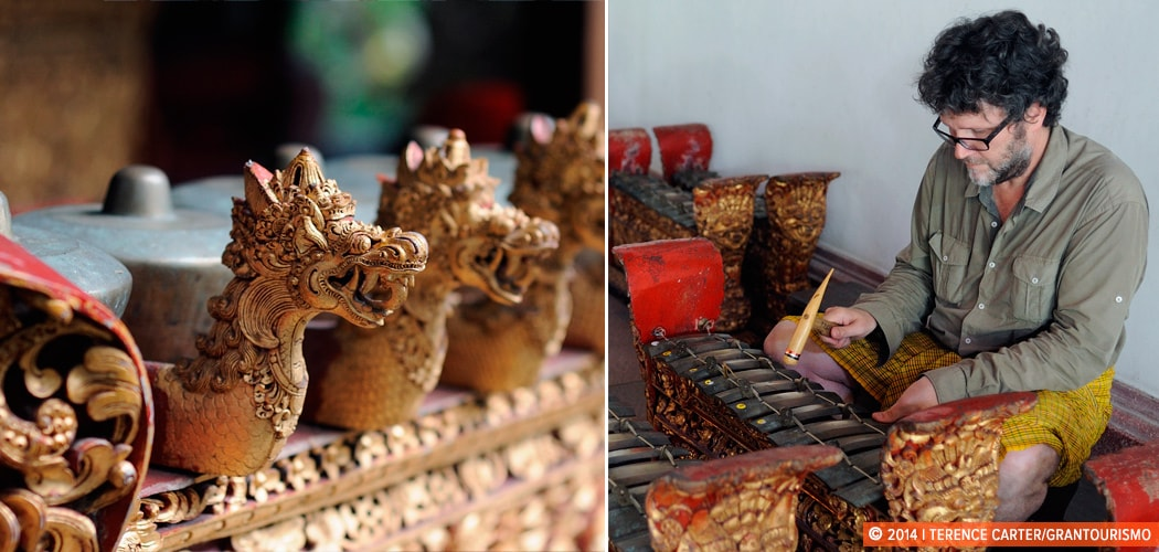 A Gamelan lesson in Ubud, Bali, Indonesia. Copyright 2014 Terence Carter / Grantourismo. All Rights Reserved.