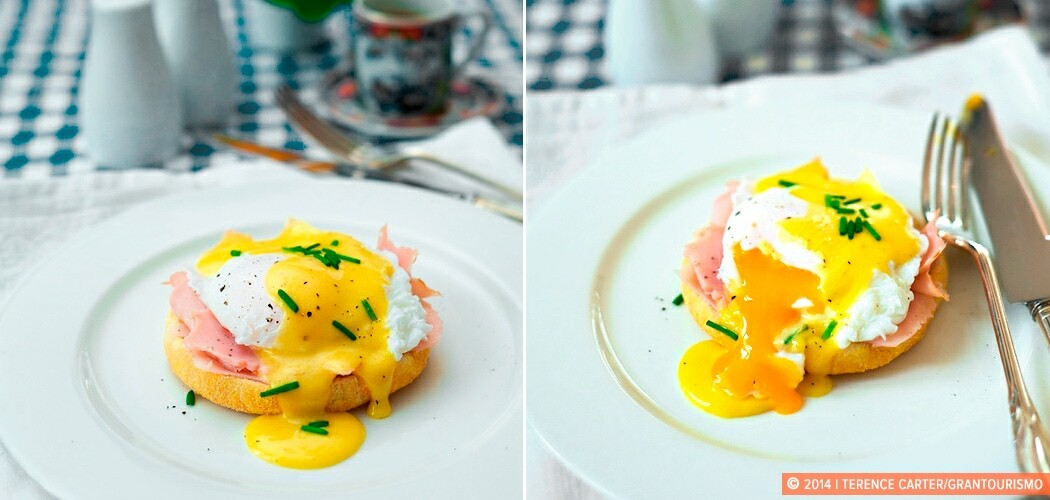 Recipe — Eggs Benedict, New York, New York, USA.