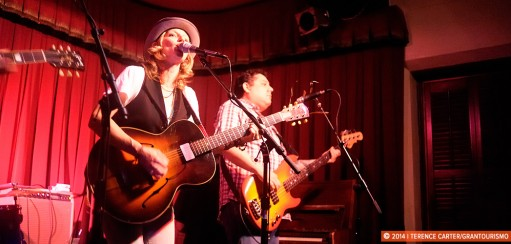 Amy Cook and Alejandro Escovedo at the Cactus Cafe, Austin