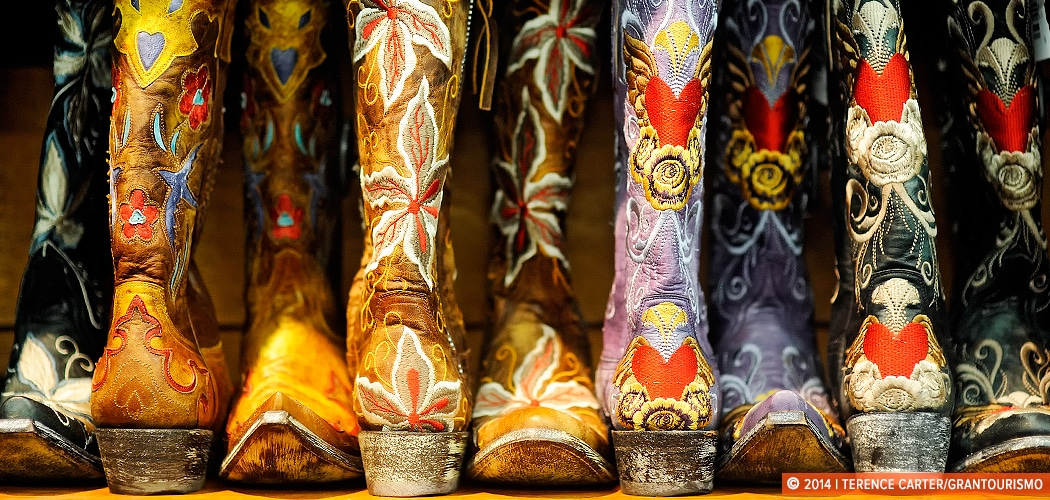 Cowboy Boots and Souvenirs, Austin, Texas, USA. Copyright 2014 Terence Carter / Grantourismo. All Rights Reserved.