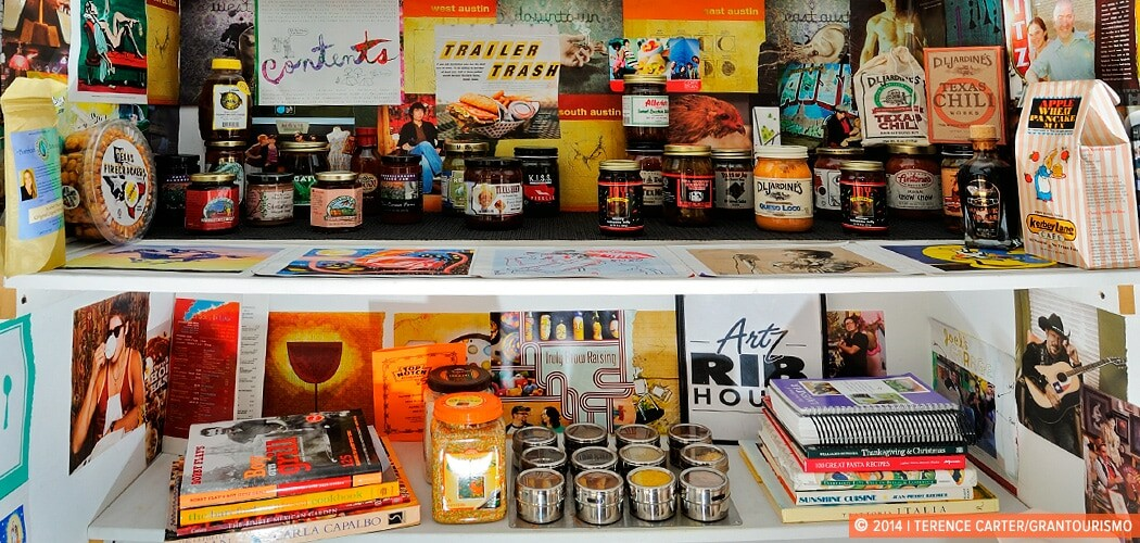 An Austin holiday house pantry, Austin, Texas, USA.