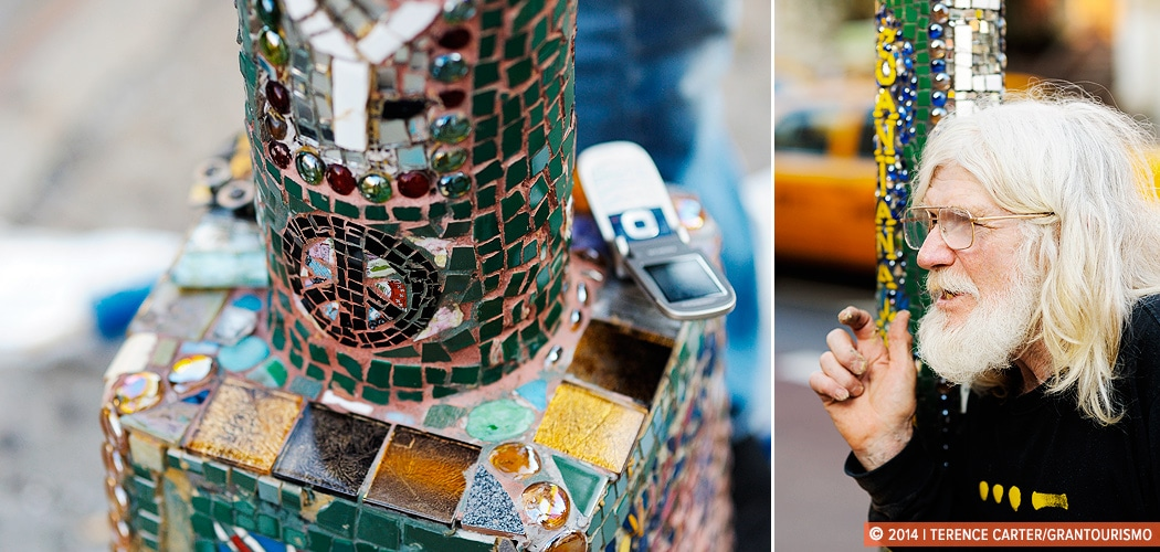 Mosaic Man, Jim Power, East Village, New York, New York, USA. Copyright 2014 Terence Carter / Grantourismo. All Rights Reserved.