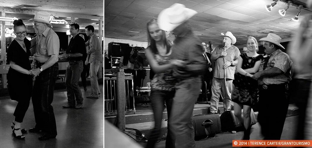 Learning the Texas Two Step at the Broken Spoke, Austin, Texas,