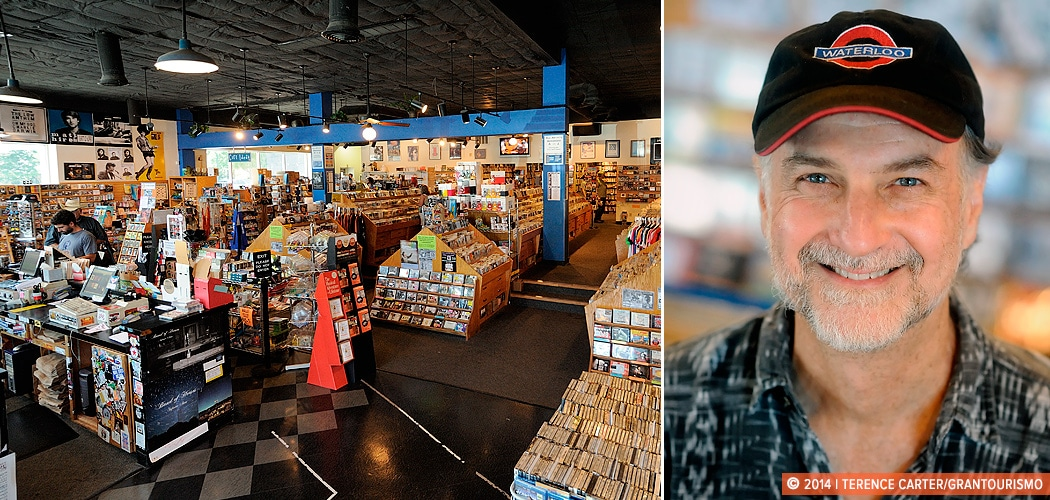 John Kunz, Owner of Waterloo Records, best Austin music. Austin, Texas, USA. Copyright 2014 Terence Carter / Grantourismo. All Rights Reserved.
