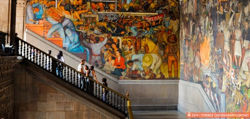 Frida Kahlo and Diego Rivera in Mexico City