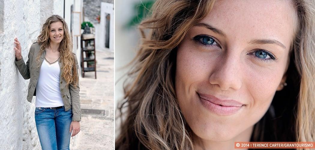 Portrait — Anna Rosato, tour guide, Alberobello, Puglia, Italy. Copyright 2014 Terence Carter / Grantourismo. All Rights Reserved.