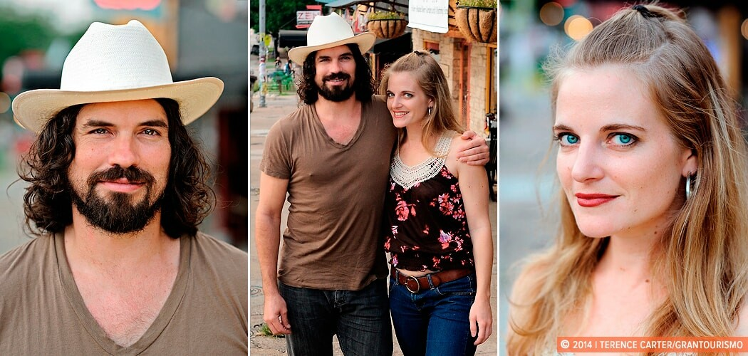 Musicians Dan Dyer & Suzanna Choffel, Austin, Texas, USA.