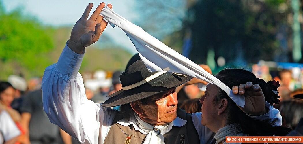 Folk Dancing at La Feria de Mataderos, Buenos Aires, Argentina.