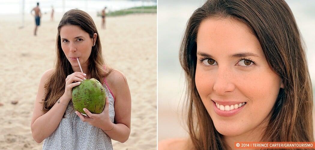 Portrait of Manoela Gentil, Ipanema Beach, Rio de Janeiro, Brazi