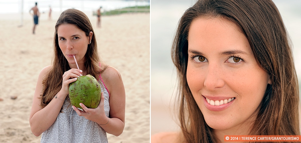 Portrait of Manoela Gentil, Ipanema Beach, Rio de Janeiro, Brazil. Local Knowledge: Manoela from Rio de Janeiro. Copyright 2014 Terence Carter / Grantourismo. All Rights Reserved.