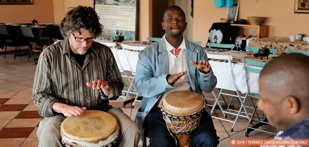 African Drumming Class in Langa Township, Cape Town, South Afric