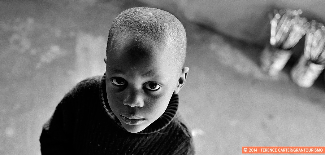 Portrait of a boy in the Townships, Cape Town, South Africa. Copyright 2014 Terence Carter / Grantourismo. All Rights Reserved.
