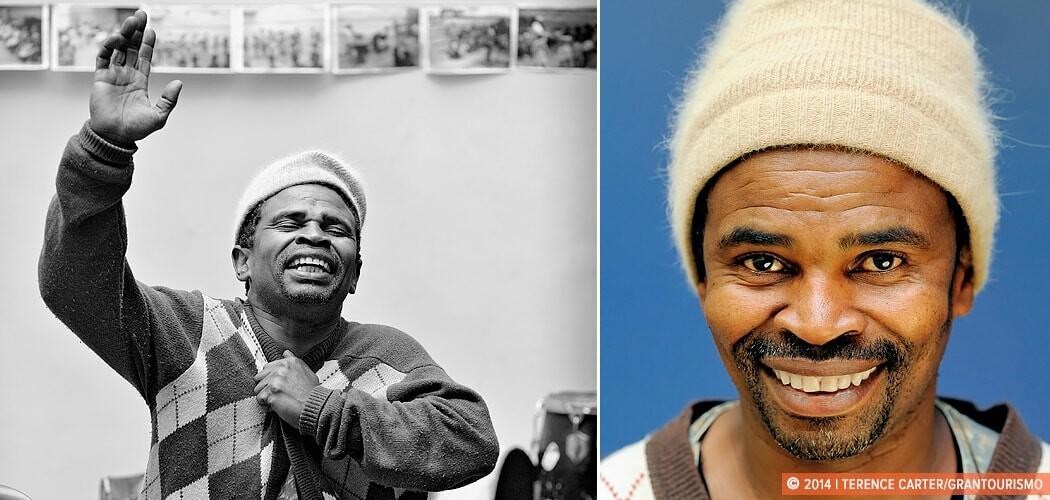 Portrait. Monwabisi Sobitshi at Langa Township, Cape Town, South