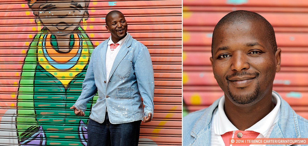 A Local Guide to Cape Town. Environmental Portrait Photography. Sabelo Maku, Tour Guide, Cape Town, South Africa. Local Knowledge: Sabelo from Cape Town. Copyright 2014 Terence Carter / Grantourismo. All Rights Reserved.