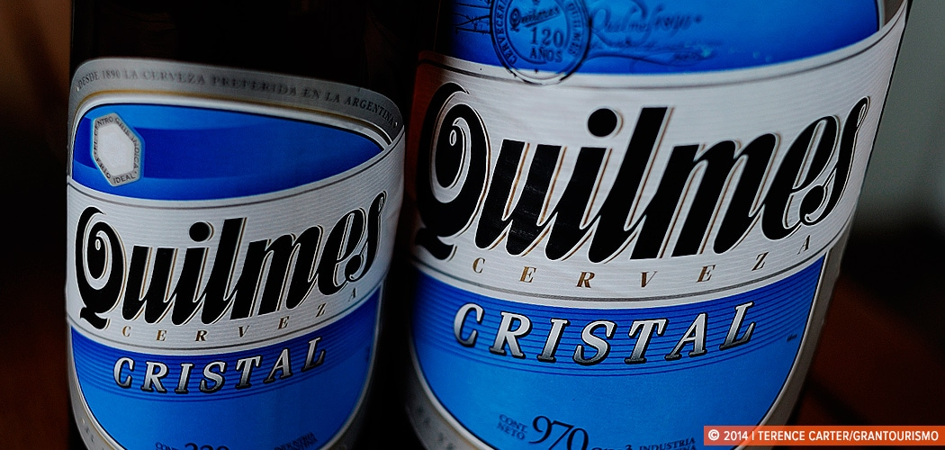 Shopping List — what things cost in Buenos Aires. Quilmes Beer, Buenos Aires, Argentina. Copyright 2014 Terence Carter / Grantourismo. All Rights Reserved.