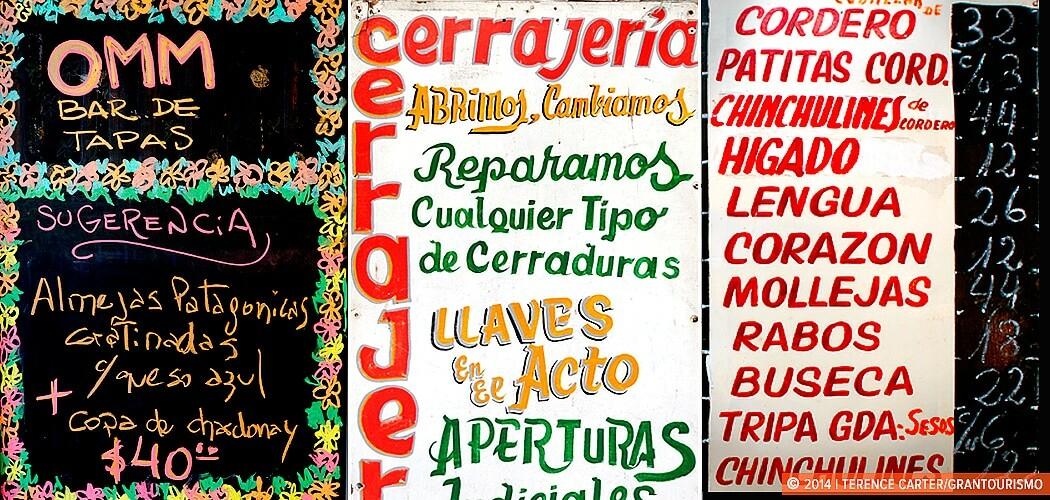 Restaurant menus. Buenos Aires, Argentina. ¿Qué pasa? Tips to