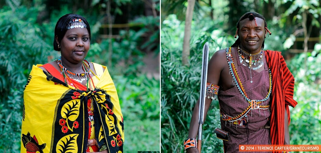 Locals at Masai Mara, Kenya. Local Knowledge: Caroline and Tira