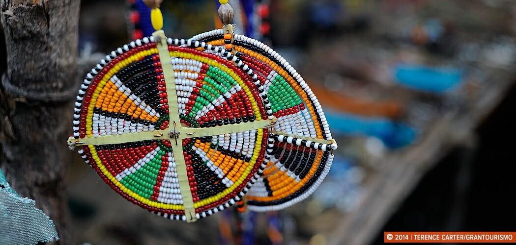 Masai Mara Souvenirs, Bargaining for Beads at a Mara Village, Ke