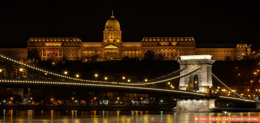 Royal Palace overlooking the Danube River, Budapest, Hungary.