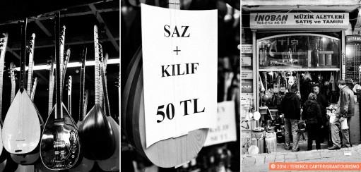 Buying a Saz or Baglama in Istanbul, Turkey