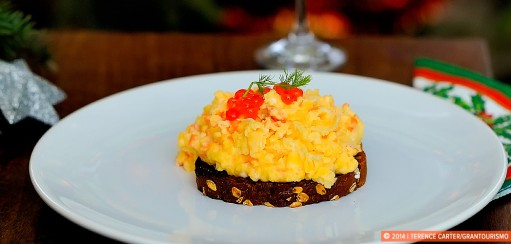 Scrambled Eggs with Smoked Salmon Recipe – Our Christmas Breakfast in Krakow