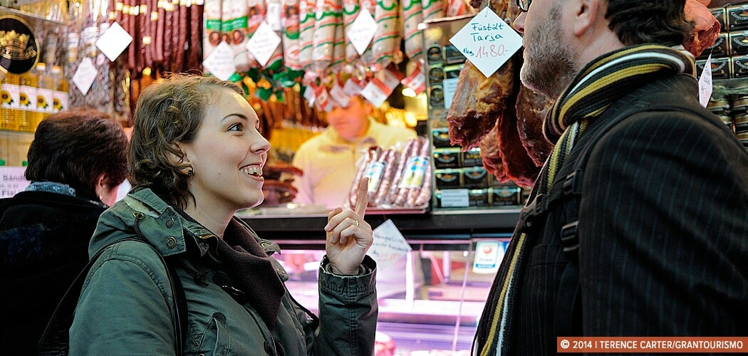 Carolyn Bánfalvi of Taste Hungary at Central Markets, Budapest,