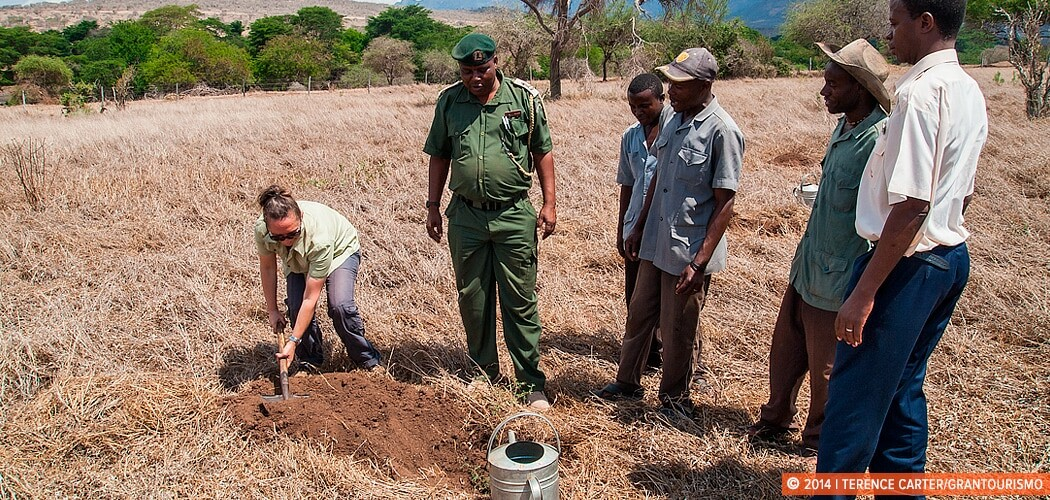 Tree planting ceremony at Taita Hills Wildlife Sanctuary, Tsavo