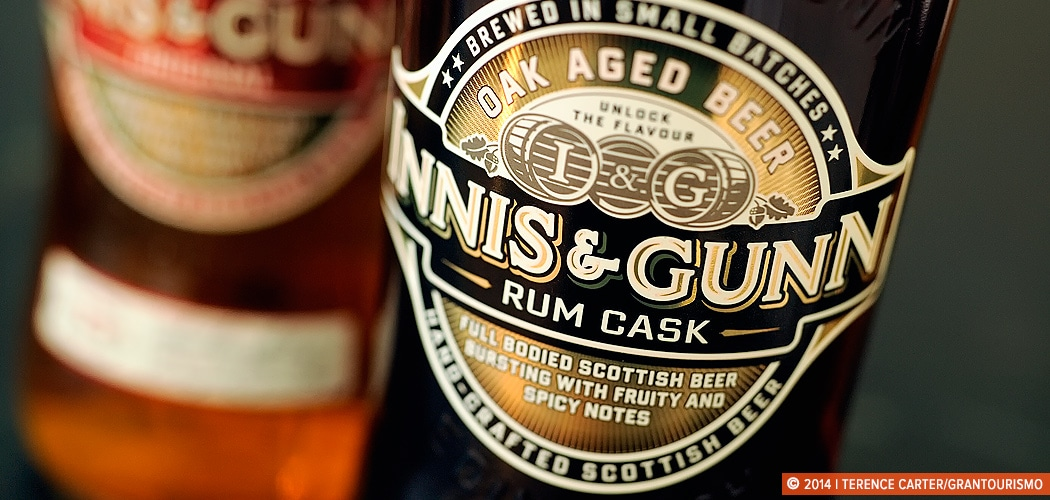 An Edinburgh Shopping List. Innis & Gunn, handcrafted Scottish Beer. Edinburgh, Scotland. Copyright 2014 Terence Carter / Grantourismo. All Rights Reserved.