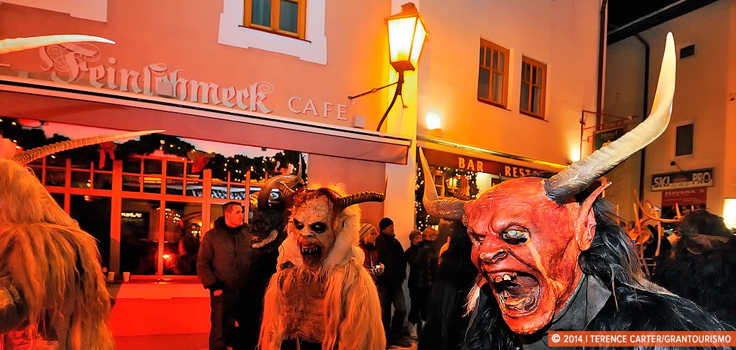 Krampus Festival, Zell am See, Austria. Copyright 2014 Terence Carter / Grantourismo. All Rights Reserved.
