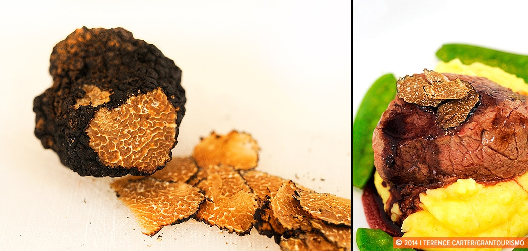 Fresh Black Winter Truffles, Vienna, Austria. Copyright 2014 Terence Carter / Grantourismo. All Rights Reserved.