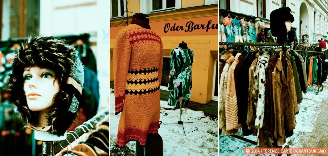 Vintage Berlin shopping in Prenzlauer Berg, Berlin, Germany.