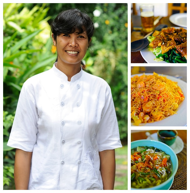 Swapping recipes with Desak in Bali. Foodie travel moments.