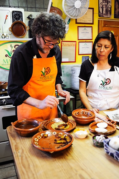 Cooking class I did in San Miguel de Allende. Foodie travel moments.