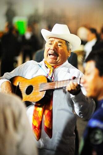 Mariachi playing on Plaza Garibaldi, Mexico City, Mexico. Copyright 2014 Terence Carter / Grantourismo. All Rights Reserved.