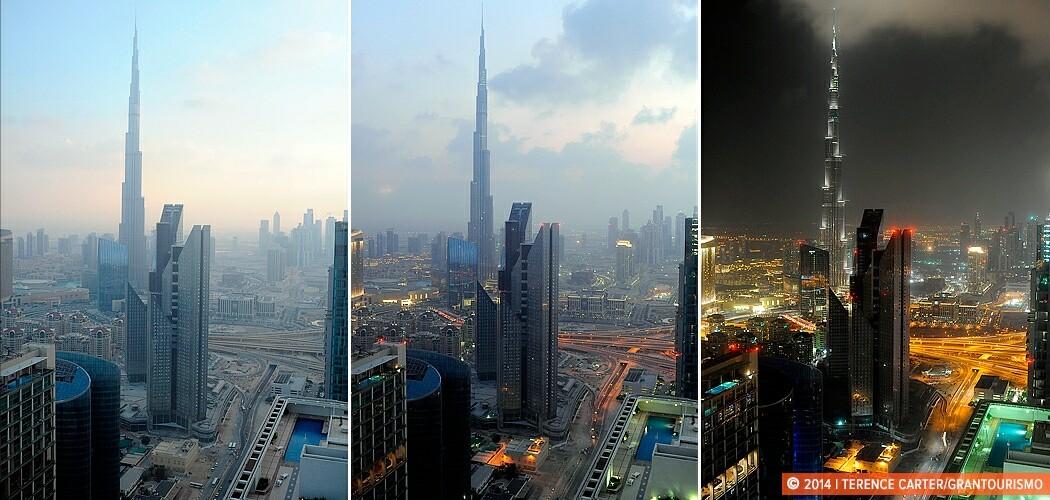 TimeLapse of the Burj Khalifa, Dubai, UAE.