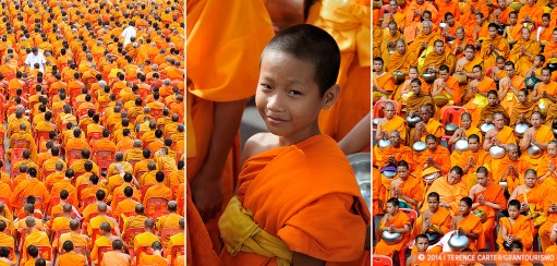Making Merit En Masse: Giving Alms to 12,600 Monks in Bangkok
