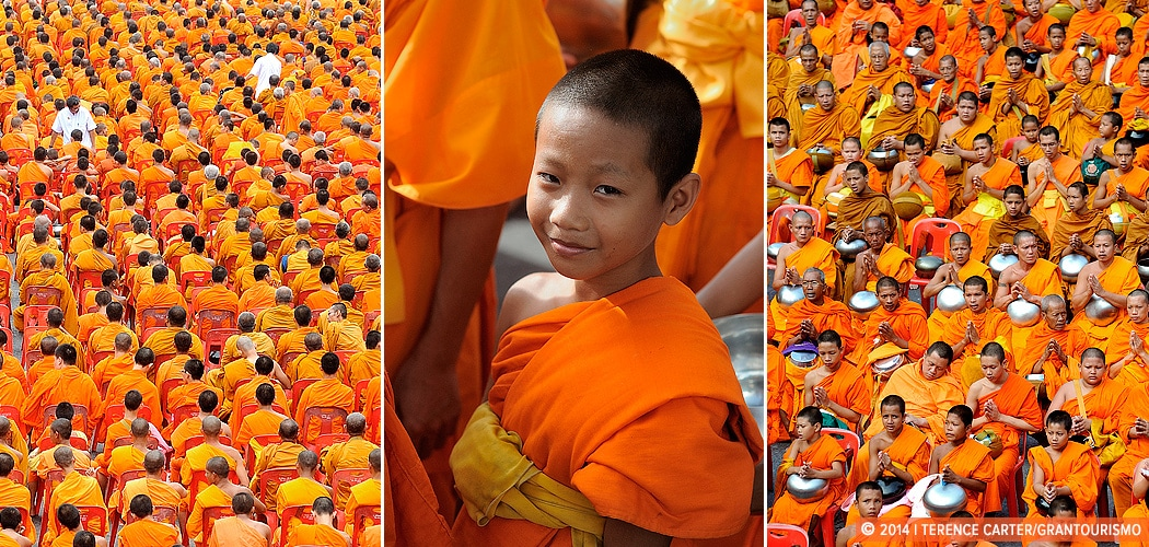 Making Merit En Masse: Giving Alms to 12,600 Monks in Bangkok on Visakha Bucha Day. Copyright 2014 Terence Carter / Grantourismo. All Rights Reserved.