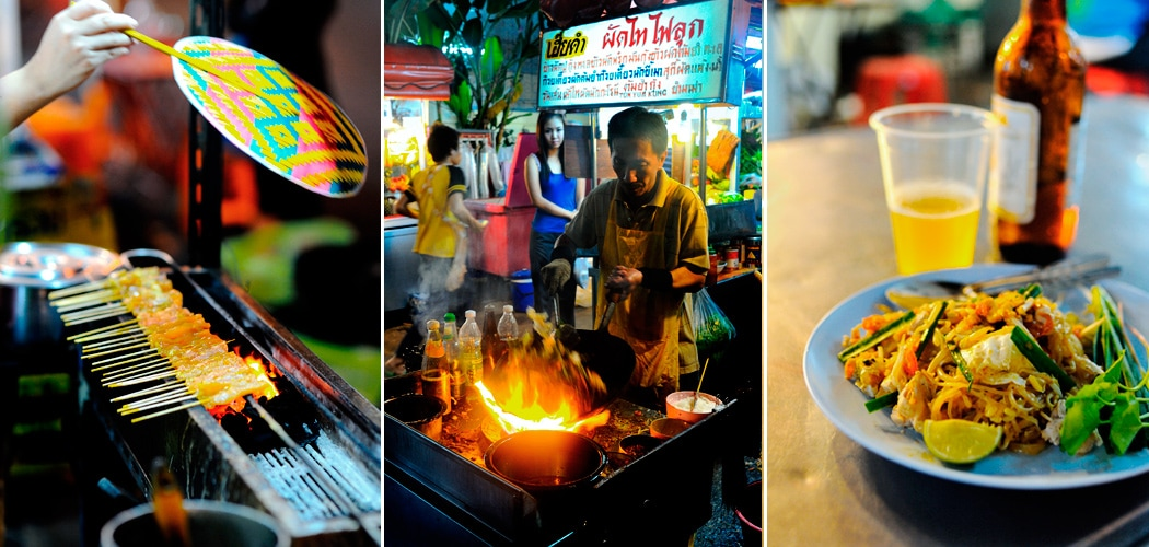 Street Food, Bangkok. Footpath Feasting. Copyright 2014 Terence Carter / Grantourismo. All Rights Reserved. A series of street food stories.