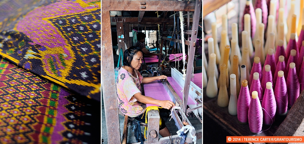 The Silk Weaving Village of Chonnabot, Isaan, Thailand. Copyright 2014 Terence Carter / Grantourismo. All Rights Reserved.