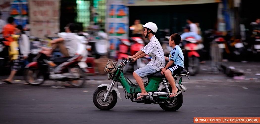 Saigon, the City of Millions of Motorbikes. Ho Chi Minh City (Saigon), Vietnam. Copyright 2014 Terence Carter / Grantourismo. All Rights Reserved. Saigon, Vietnam, the City of Millions of Motorbikes.